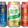 サントリービール「金麦」「金麦〈糖質75%〉」「金麦〈ザ・ラガー〉」